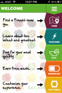 Freshii Main Screen