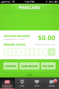 Pinkberry App Account Balance